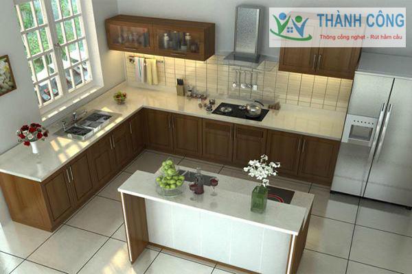 Tránh đặt bể tự hoại dưới nhà bếp