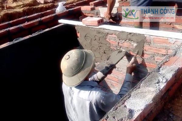 Bể phốt bằng gạch