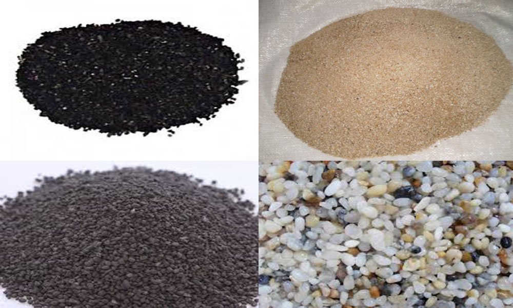 Sỏi, than hoạt tính, cát vàng và Kilox là các chất liệu lọc hiệu quả