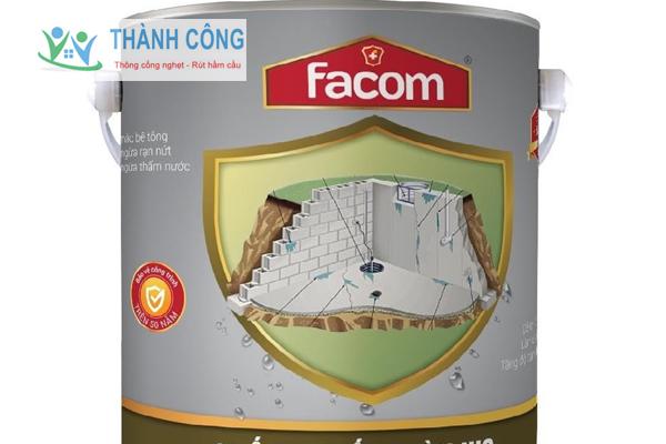 Xử lý bể nước bị nứt bằng vật liệu Facom